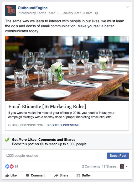 organic vs paid social media 2