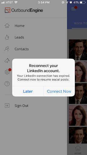 push notification reconnect social